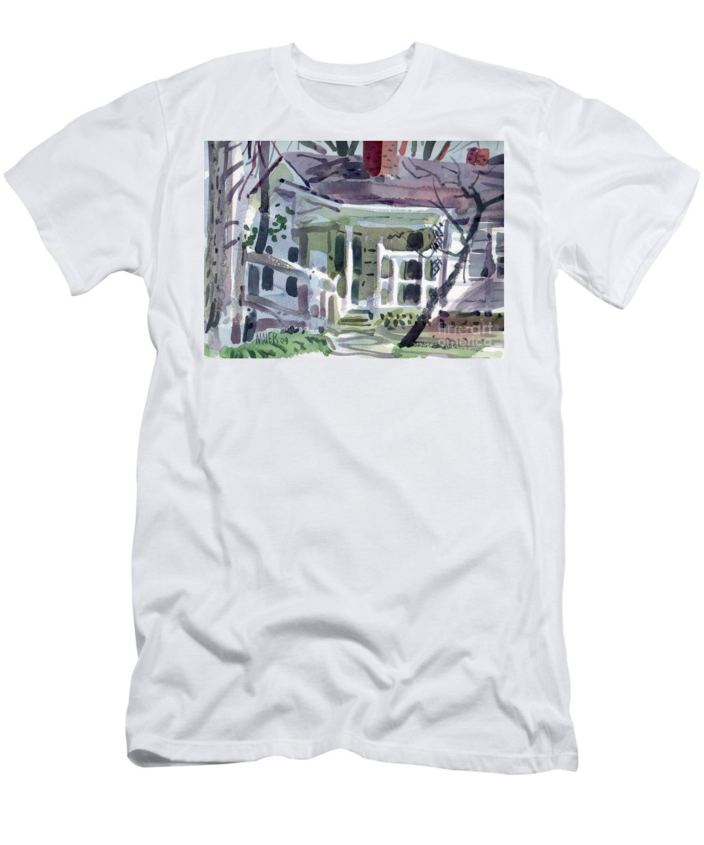 Wallis House Men's T-Shirt (Athletic Fit) featuring the painting Wallis House by Donald Maier