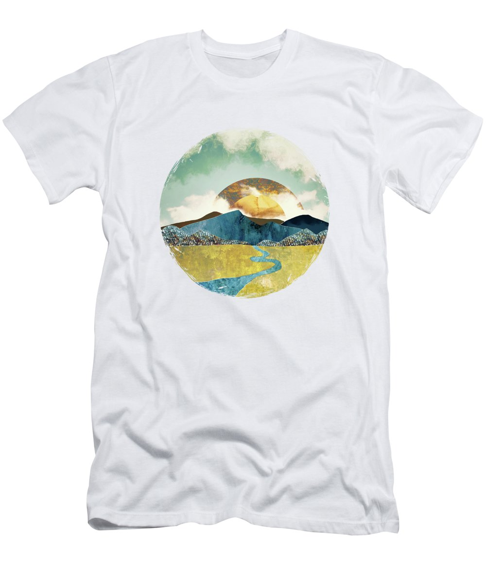 Mountains T-Shirt featuring the digital art Wanderlust by Katherine Smit