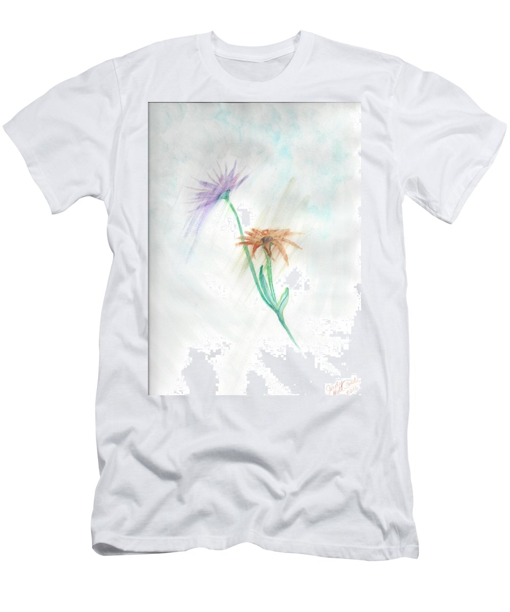 Flowers Men's T-Shirt (Athletic Fit) featuring the painting Washing Away by Judy Hall-Folde