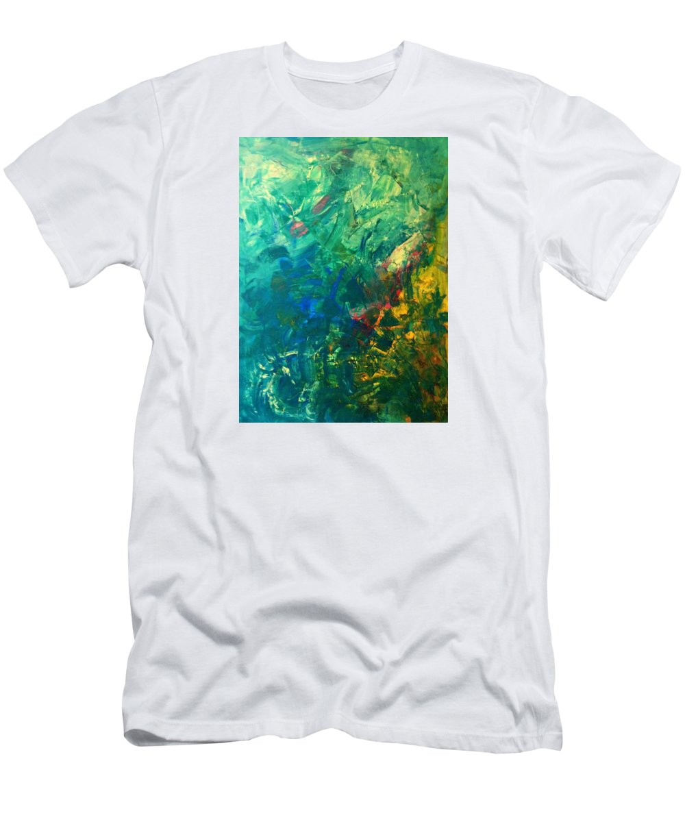 Abstract Art Men's T-Shirt (Athletic Fit) featuring the painting Wasp-12b by John Dossman