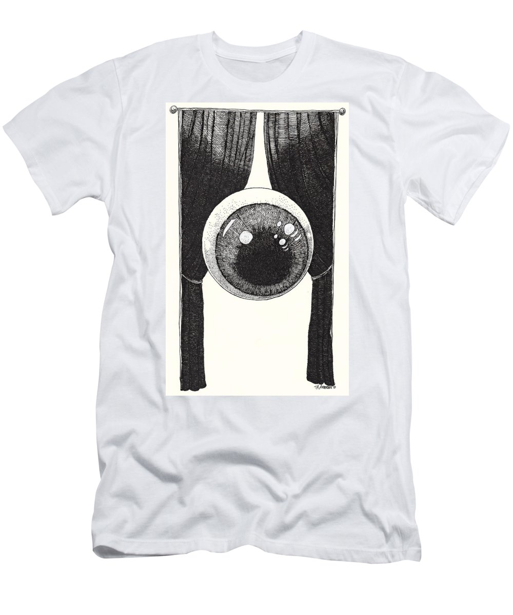 Illustration T-Shirt featuring the drawing Watchful by Tobey Anderson