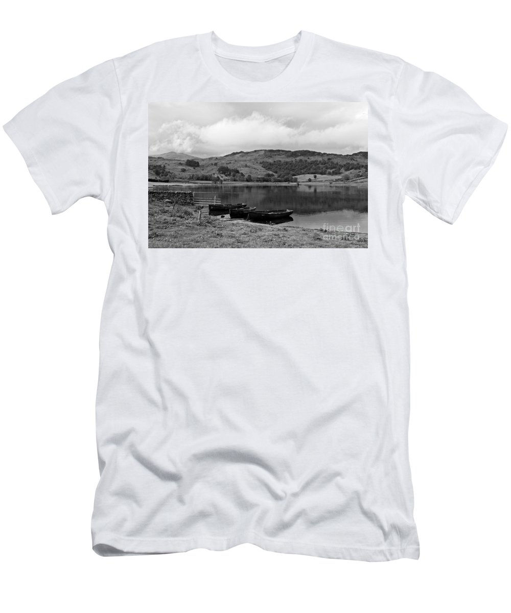 Watendlath Men's T-Shirt (Athletic Fit) featuring the photograph Watendlath Tarn In The Lake District Cumbria by Louise Heusinkveld