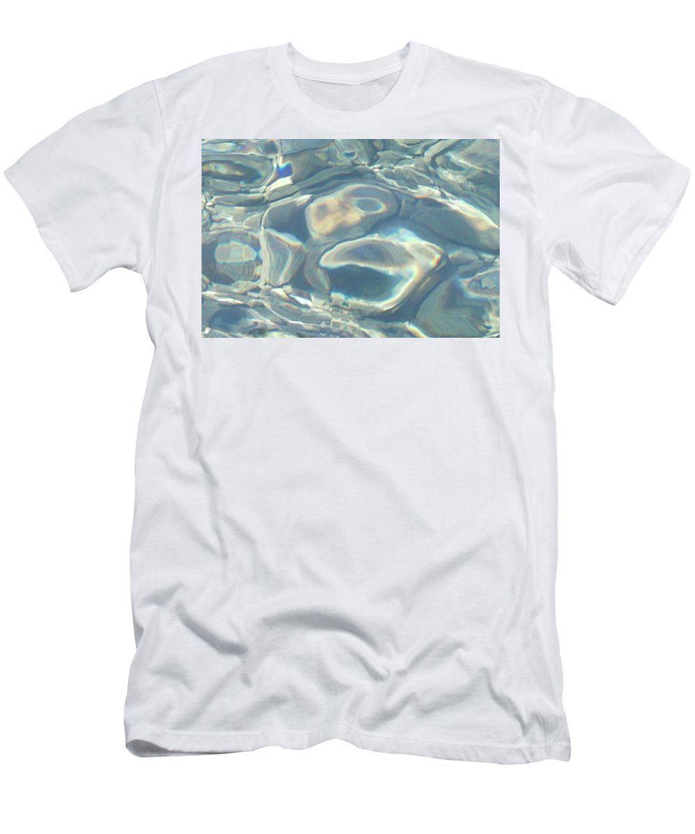 Water Men's T-Shirt (Athletic Fit) featuring the photograph Water Warped by Aaron Beaudry