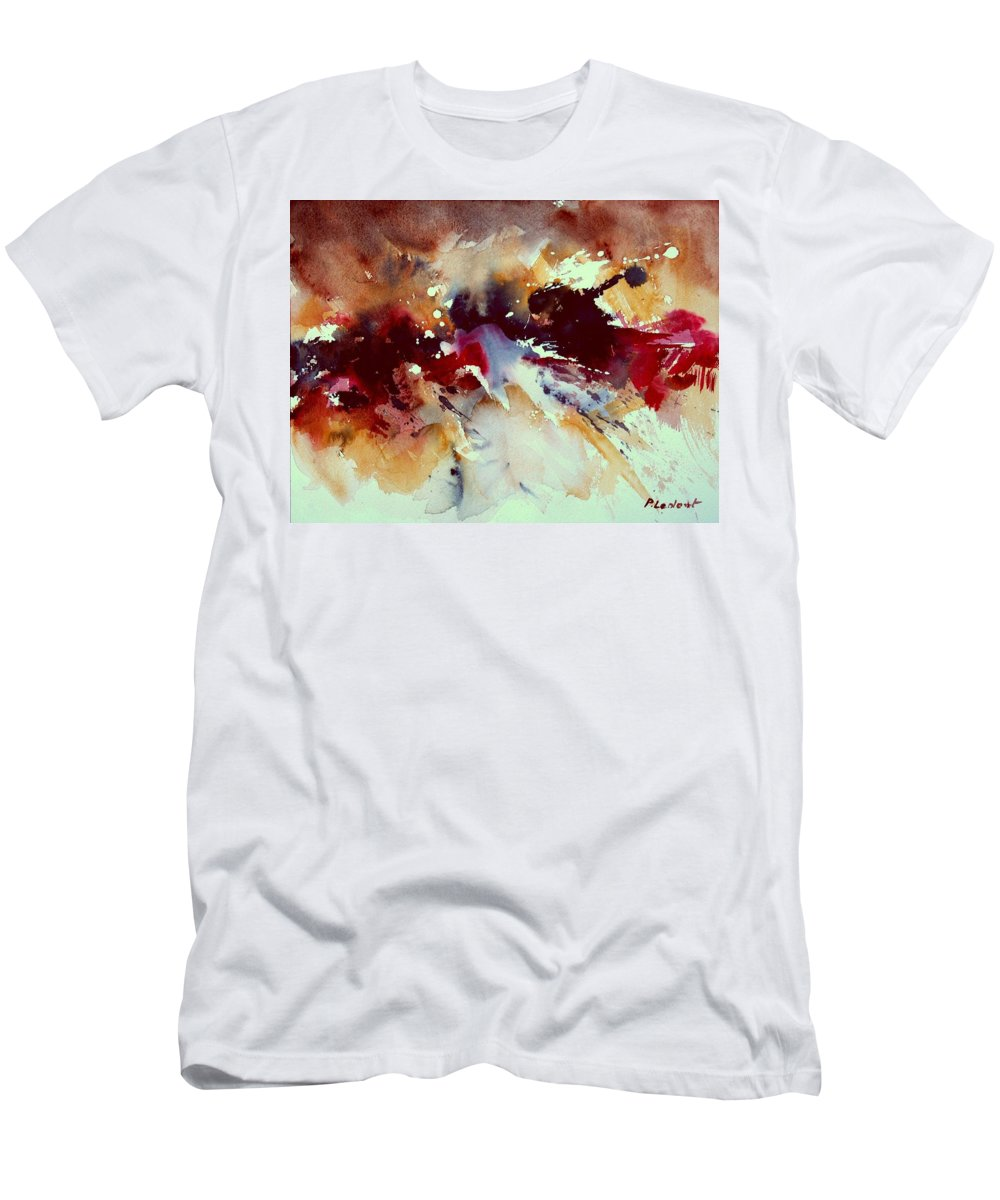 Abstract T-Shirt featuring the painting Watercolor 301107 by Pol Ledent