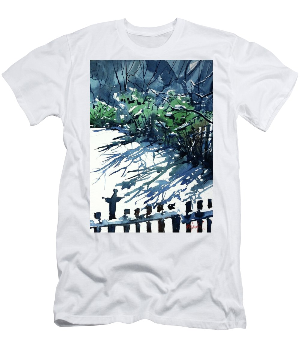 Men's T-Shirt (Athletic Fit) featuring the painting Watercolor4597 by Ugljesa Janjic
