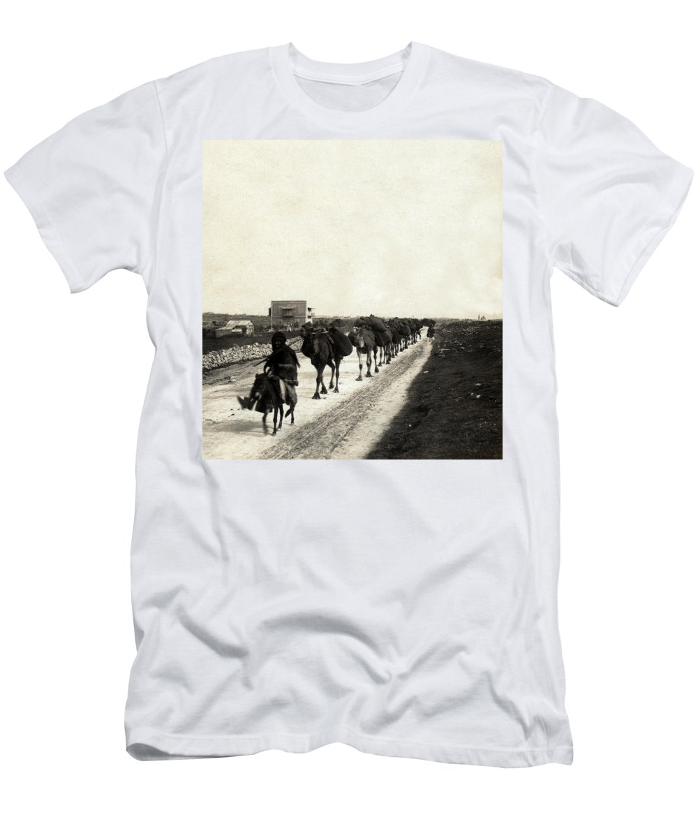 Christmas Men's T-Shirt (Athletic Fit) featuring the photograph Way To Bethlehem by Munir Alawi