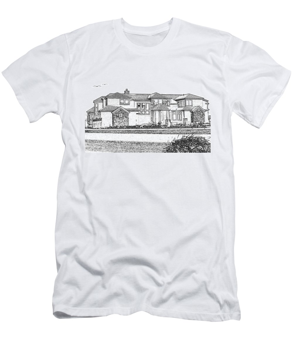 Welcome Home Men's T-Shirt (Athletic Fit) featuring the digital art Welcome Home 3 by Will Borden