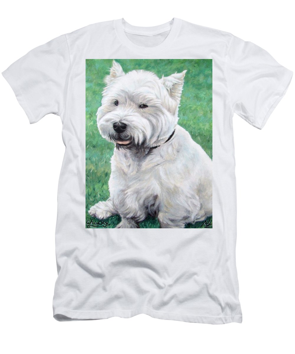 Dog T-Shirt featuring the painting West Highland Terrier by Nicole Zeug