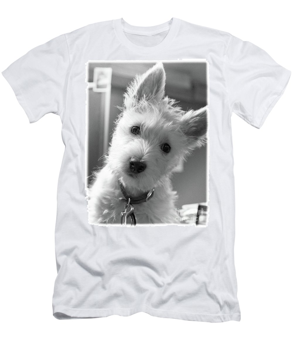 Dog Men's T-Shirt (Athletic Fit) featuring the photograph Westie 1 by Wayne Heim