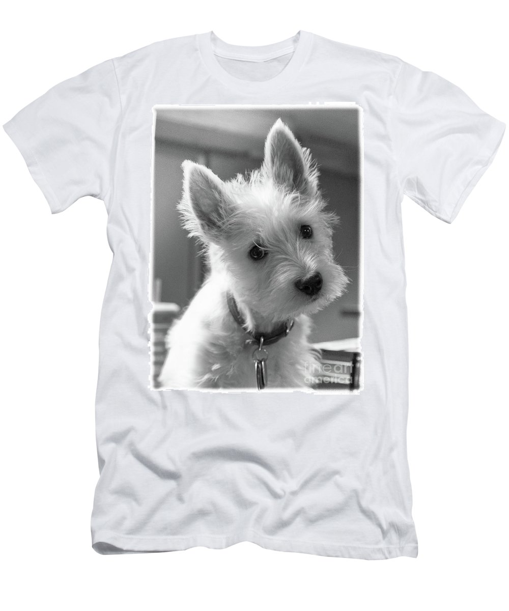 Dog Men's T-Shirt (Athletic Fit) featuring the photograph Westie 2 by Wayne Heim