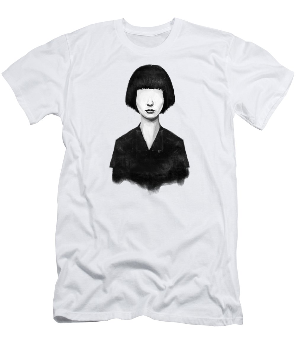 Girl T-Shirt featuring the mixed media What You See Is What You Get by Balazs Solti