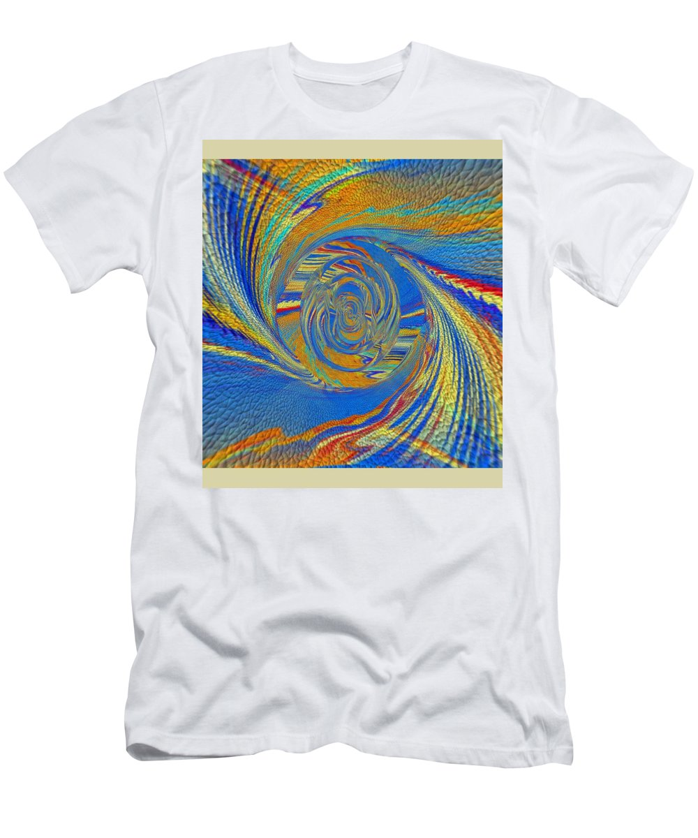 Art Digital Pictures Men's T-Shirt (Athletic Fit) featuring the digital art Wheat Ear by Halina Nechyporuk