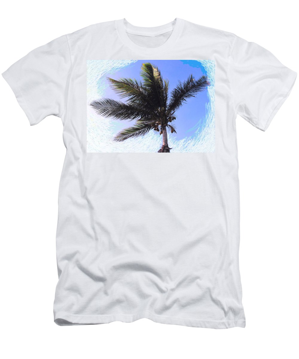 Palm Men's T-Shirt (Athletic Fit) featuring the photograph Where Coconuts Come From by Ian MacDonald