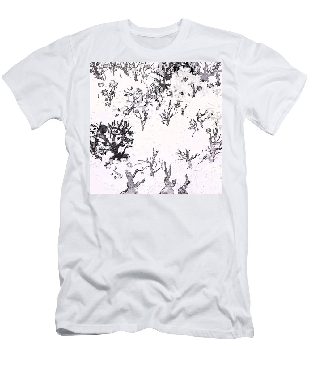 Abstract Men's T-Shirt (Athletic Fit) featuring the digital art White As Snow by Rachel Christine Nowicki
