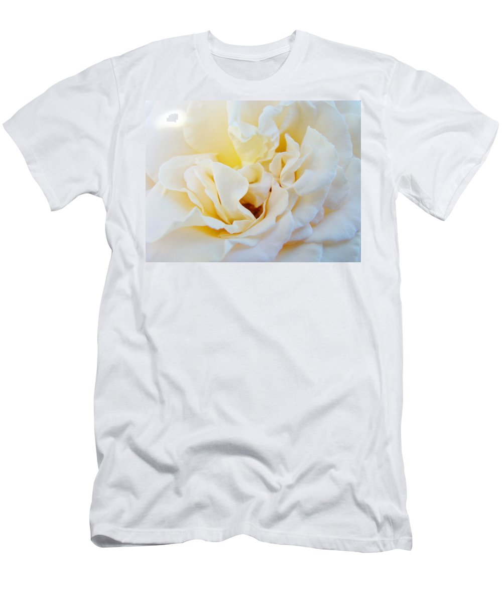 Rose T-Shirt featuring the photograph White Creamy Pastel Rose Flower Baslee Troutman by Patti Baslee