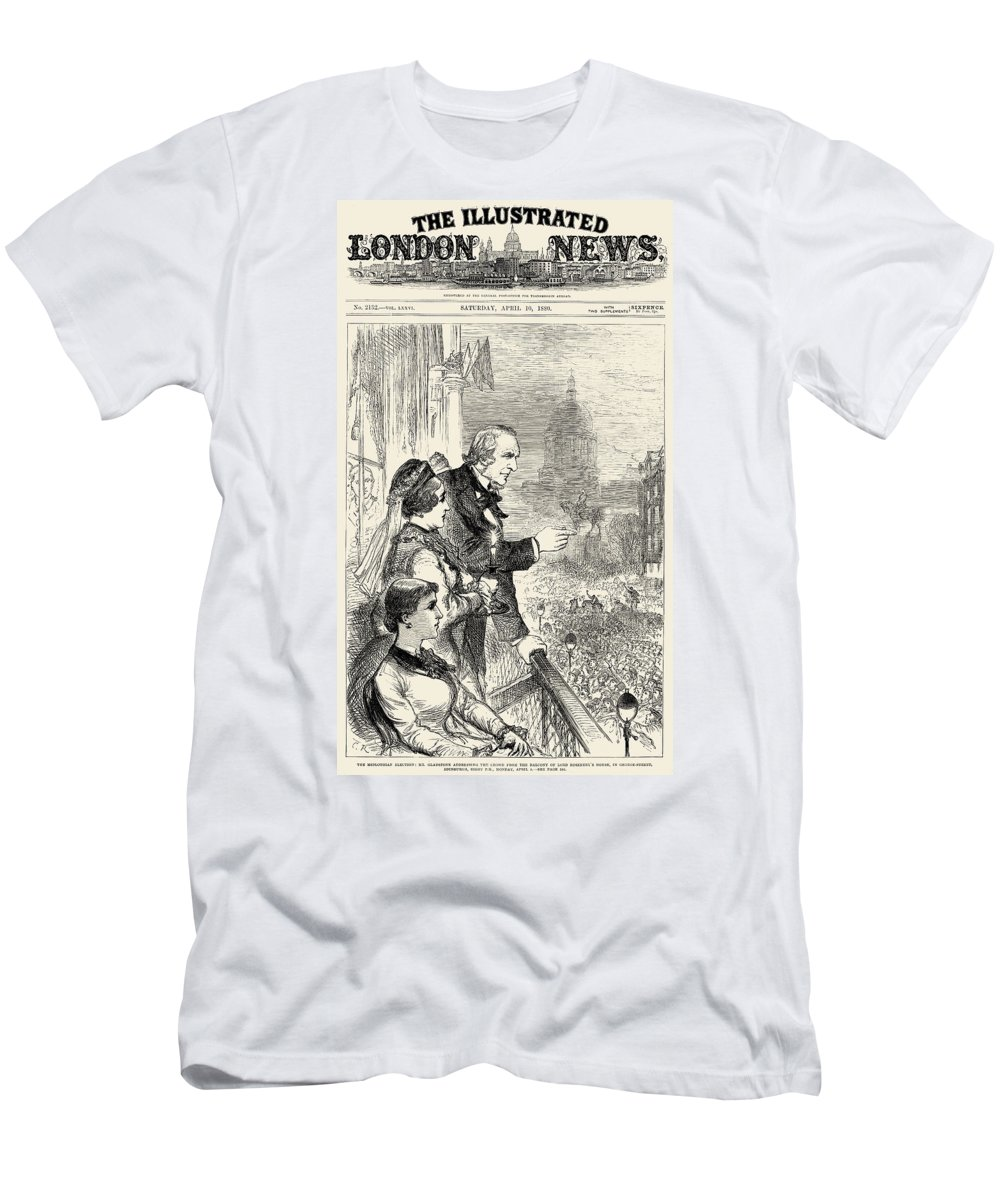 1880 Men's T-Shirt (Athletic Fit) featuring the photograph Willam Ewart Gladstone by Granger