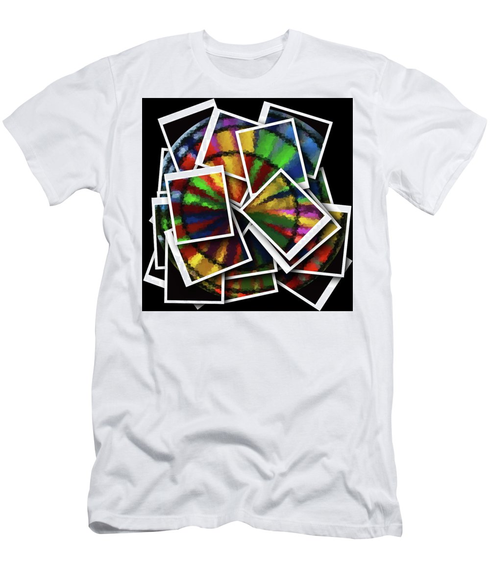 Wind Spinner Men's T-Shirt (Athletic Fit) featuring the photograph Wind Spinner Collage by Cathy Lindsey