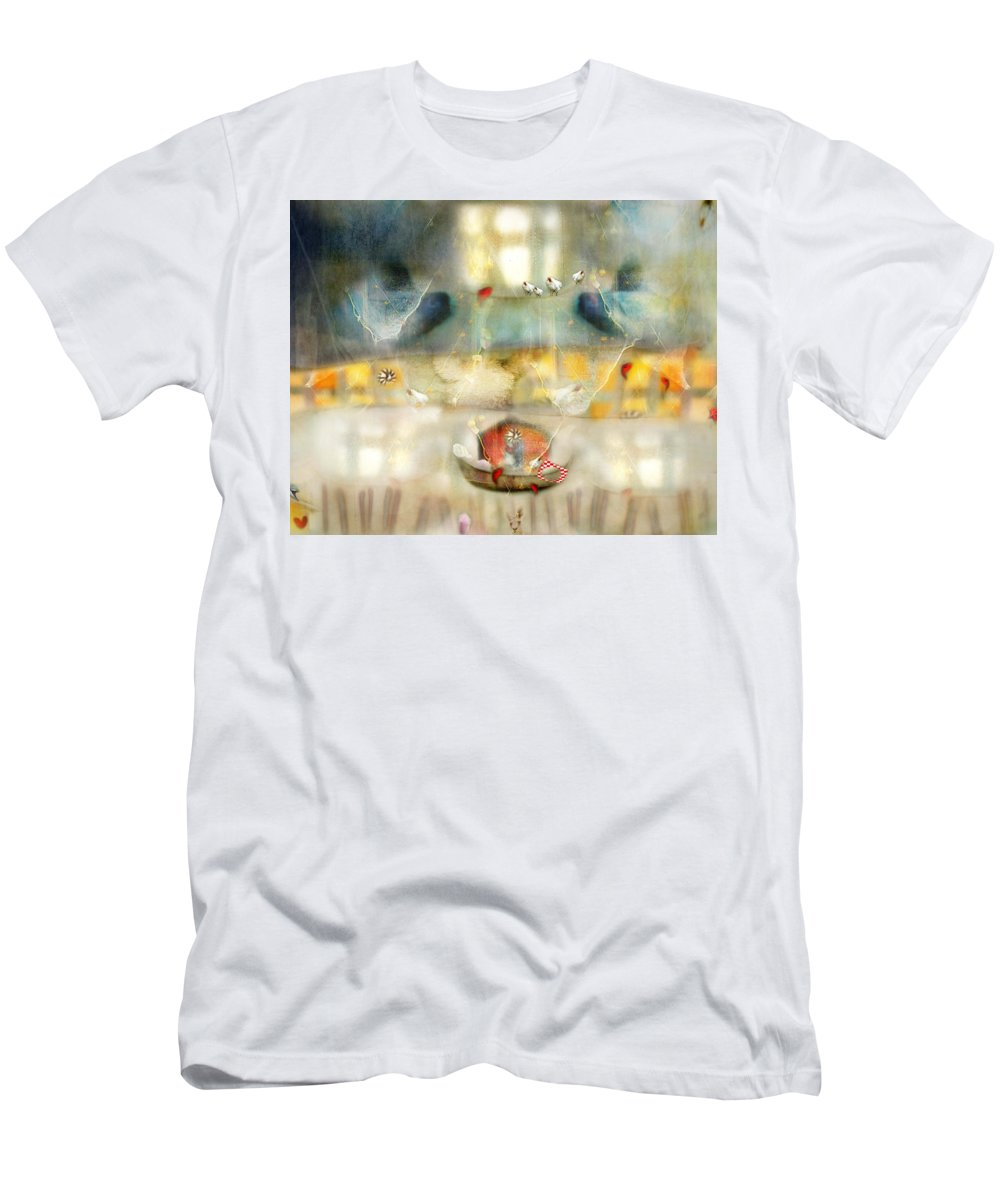 Windows Men's T-Shirt (Athletic Fit) featuring the photograph Windows And Openings by Karen Divine