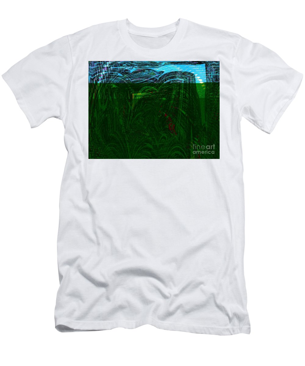 Wind Men's T-Shirt (Athletic Fit) featuring the digital art Windy City by Debra Lynch