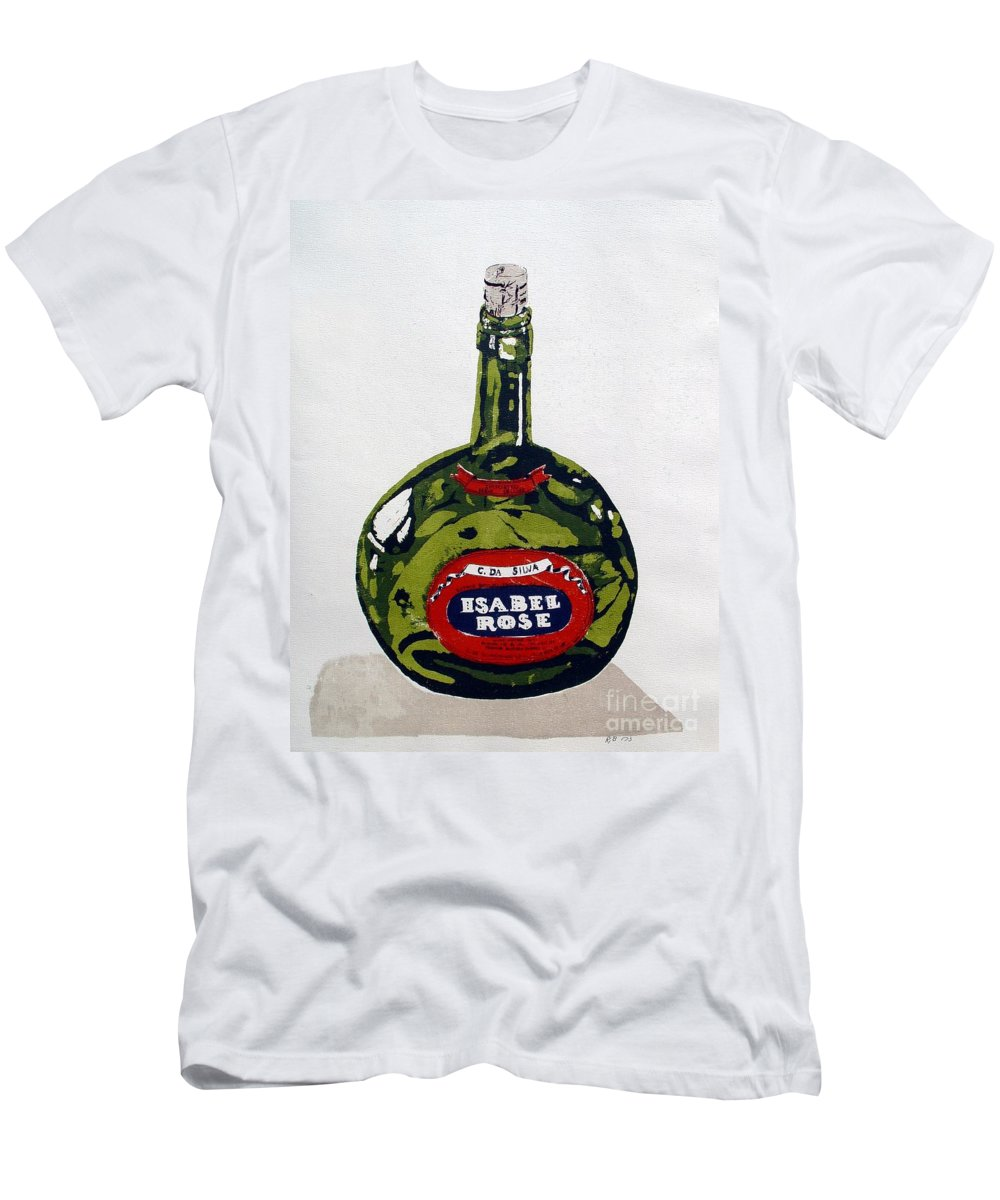 Silk Screen T-Shirt featuring the mixed media Wine Bottle by Ron Bissett