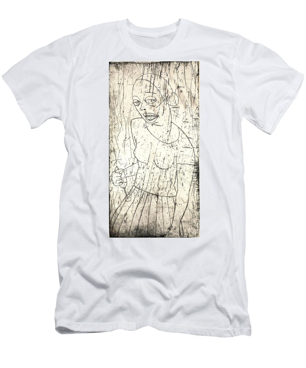 Clay Men's T-Shirt (Athletic Fit) featuring the painting Wino by Thomas Valentine