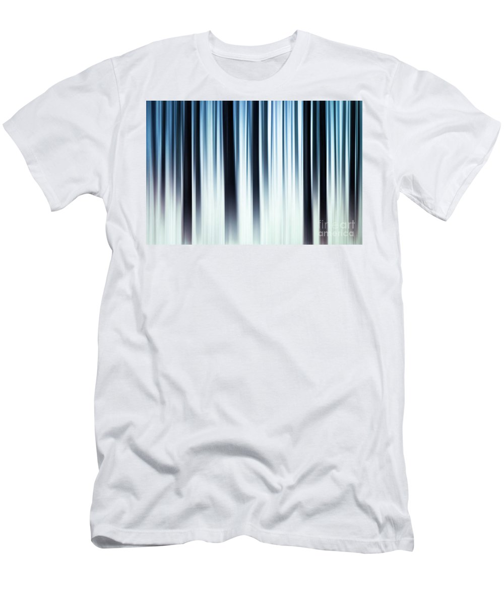 Hereward The Wake Men's T-Shirt (Athletic Fit) featuring the digital art Winter In The Forest by John Edwards
