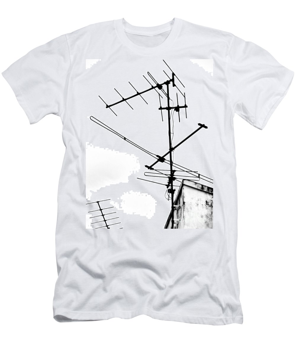 Wires Men's T-Shirt (Athletic Fit) featuring the photograph Wired by Tara Turner