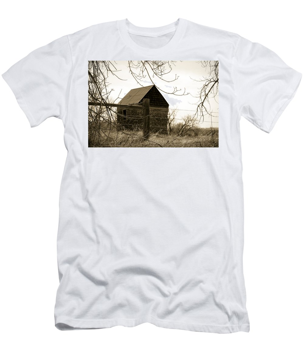 Rock Men's T-Shirt (Athletic Fit) featuring the photograph Wistful by Marilyn Hunt