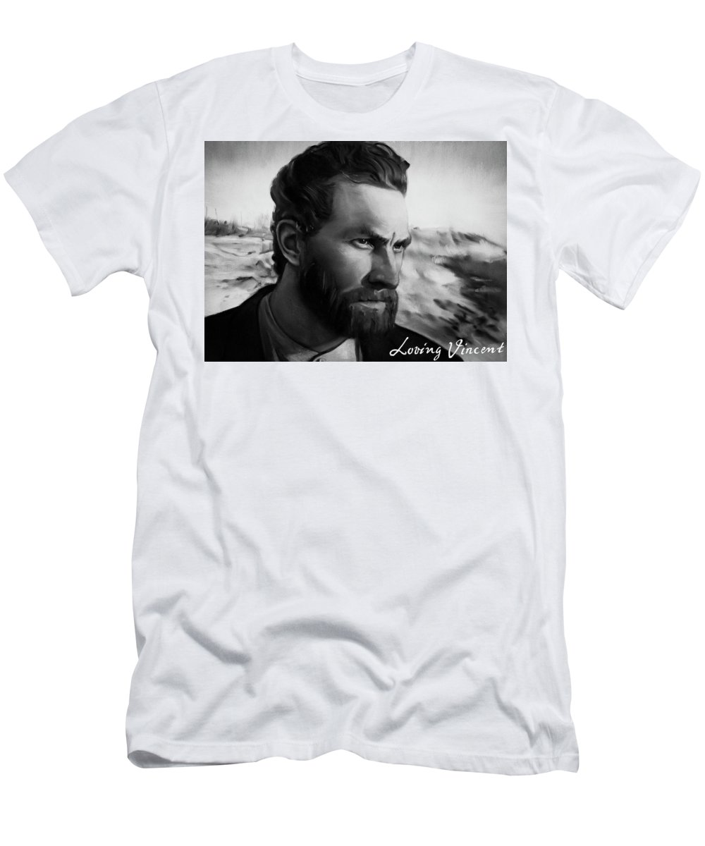 T-Shirt featuring the painting With Theo support - there is no stopping him by Agata Smolska