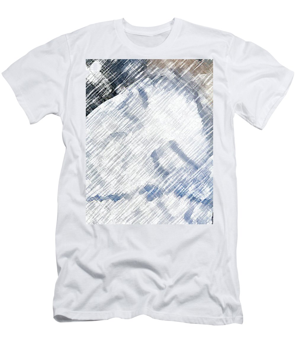 Abstract Men's T-Shirt (Athletic Fit) featuring the photograph Woman Sleeping by Lenore Senior