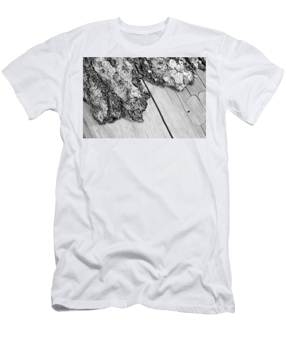 Wood Men's T-Shirt (Athletic Fit) featuring the photograph Wooden Wave by Donna Blackhall