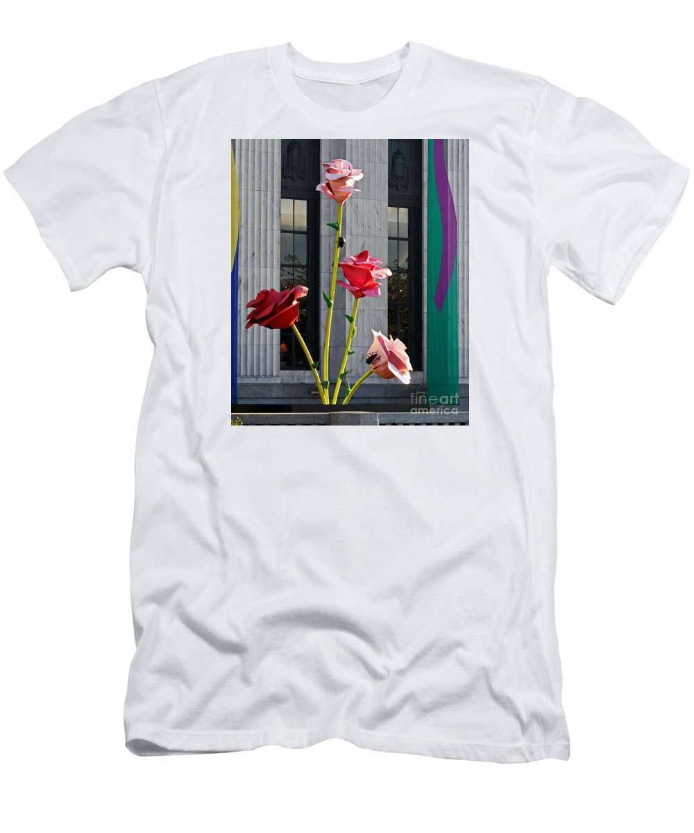 Metal Art Men's T-Shirt (Athletic Fit) featuring the photograph Work Of Visual Art by Jennifer Robin
