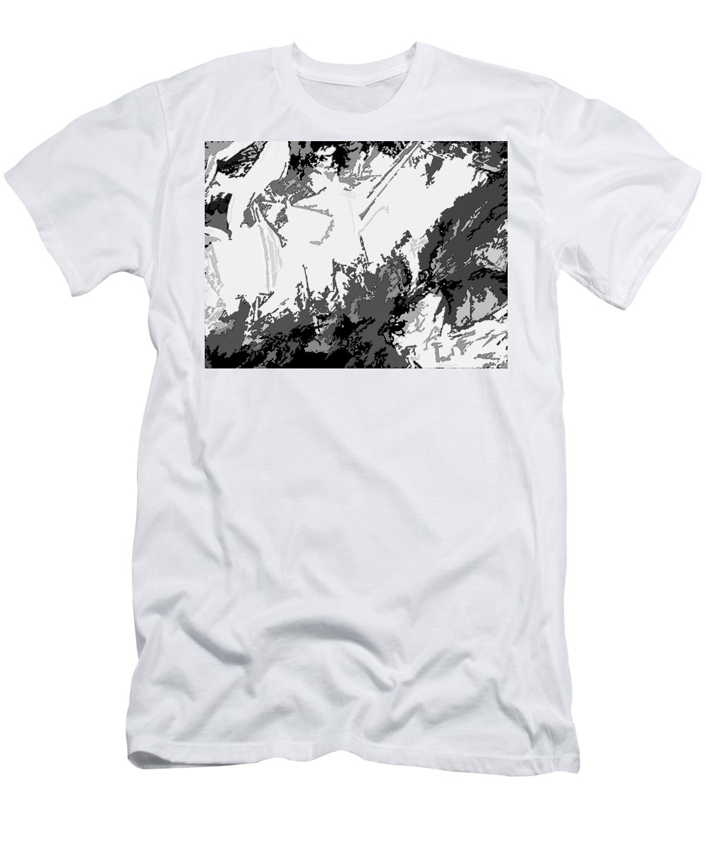 Abstract Men's T-Shirt (Athletic Fit) featuring the digital art Writing In Snow by Lenore Senior