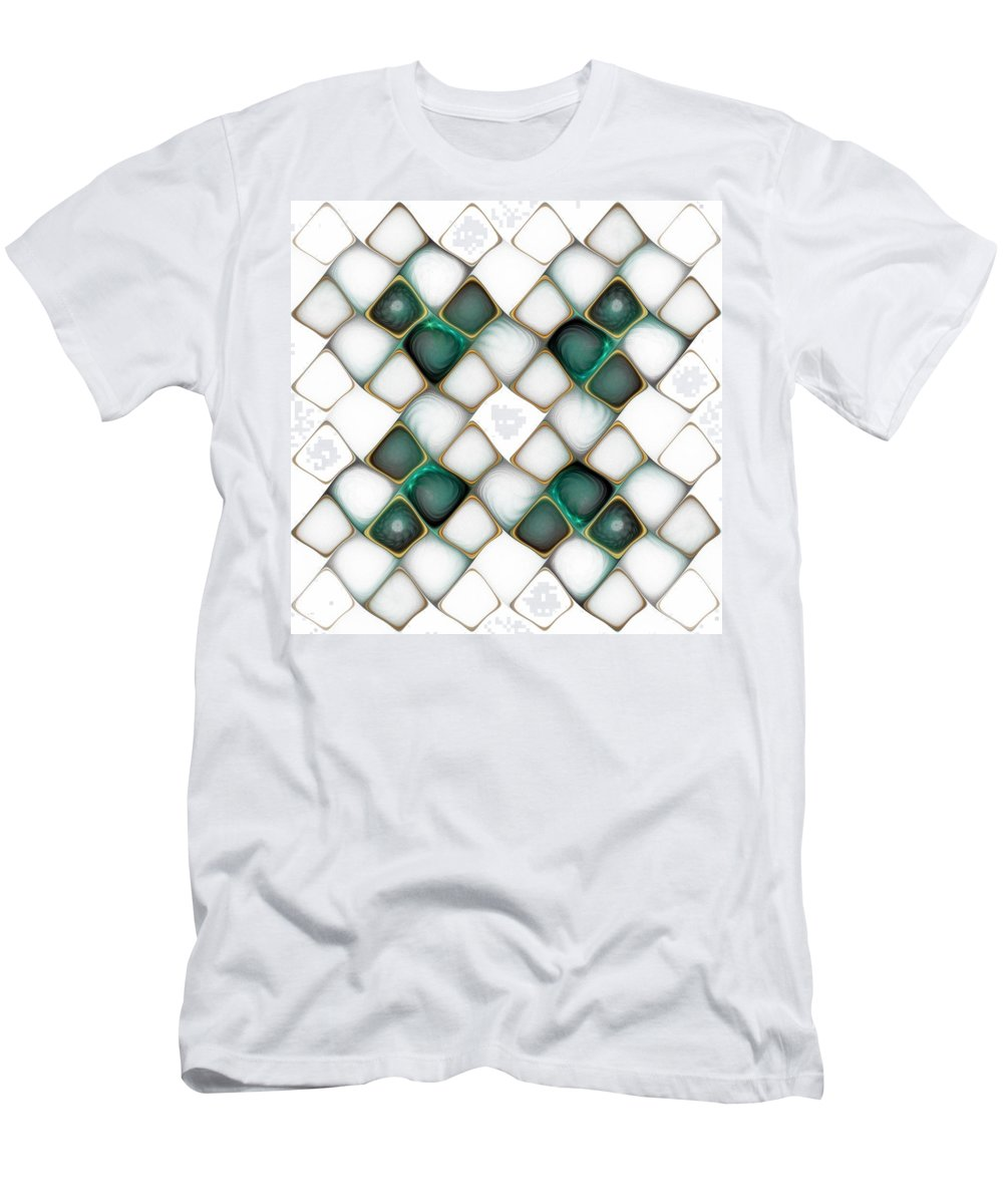 Digital Art Men's T-Shirt (Athletic Fit) featuring the digital art X Marks The Spot by Amanda Moore