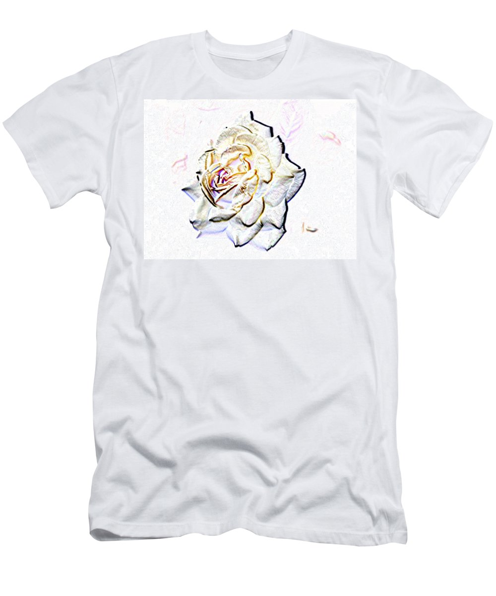 Rose Men's T-Shirt (Athletic Fit) featuring the digital art Yellow Rose by Tim Allen