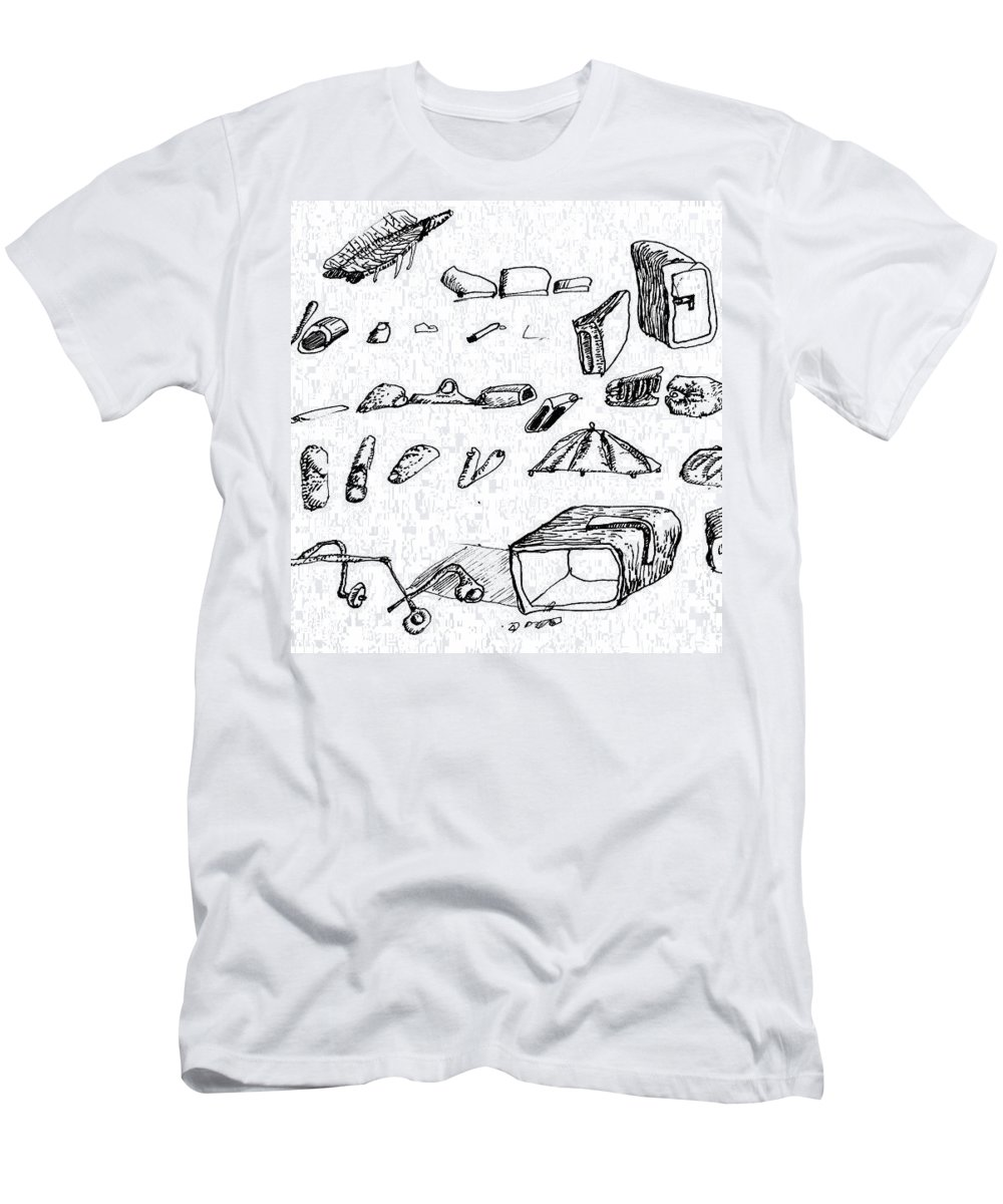 Surreal Men's T-Shirt (Athletic Fit) featuring the drawing yes by Luca Dedic