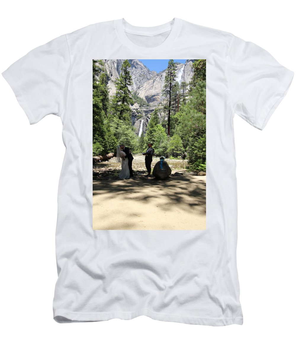 T-Shirt featuring the painting Yosemite Wedding by Travis Day