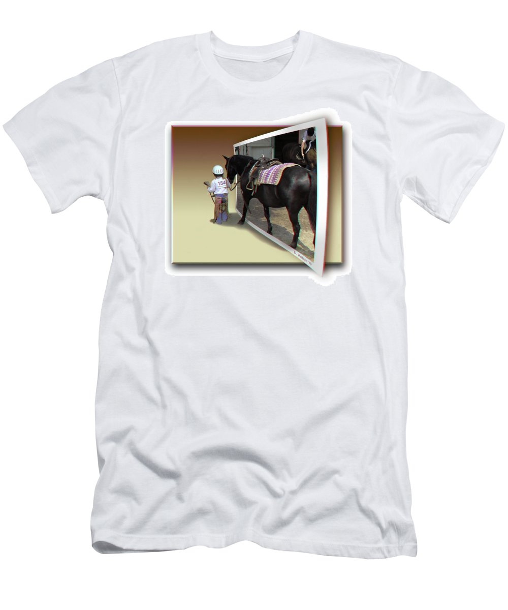 3d Men's T-Shirt (Athletic Fit) featuring the photograph You Come With Me - Use Red-cyan 3d Glasses by Brian Wallace