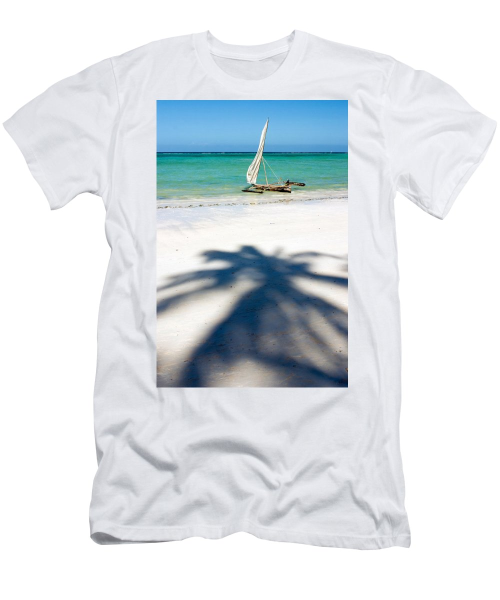 3scape Men's T-Shirt (Athletic Fit) featuring the photograph Zanzibar Beach by Adam Romanowicz
