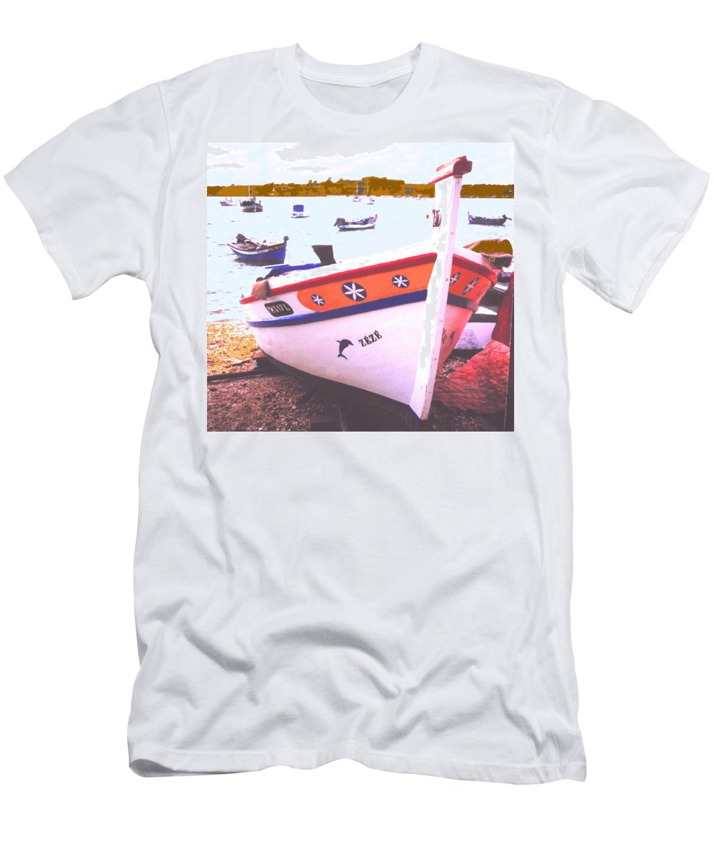 Portugal Men's T-Shirt (Athletic Fit) featuring the photograph Zeze On The Algarve by Ian MacDonald