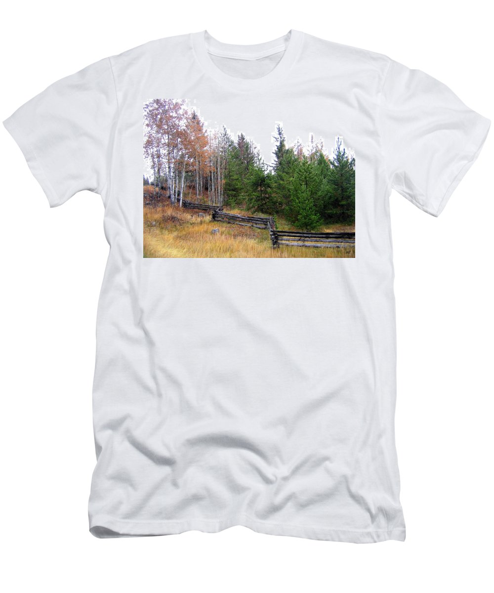 Zigzag Rail Fence Men's T-Shirt (Athletic Fit) featuring the photograph Zigzag Rail Fence by Will Borden