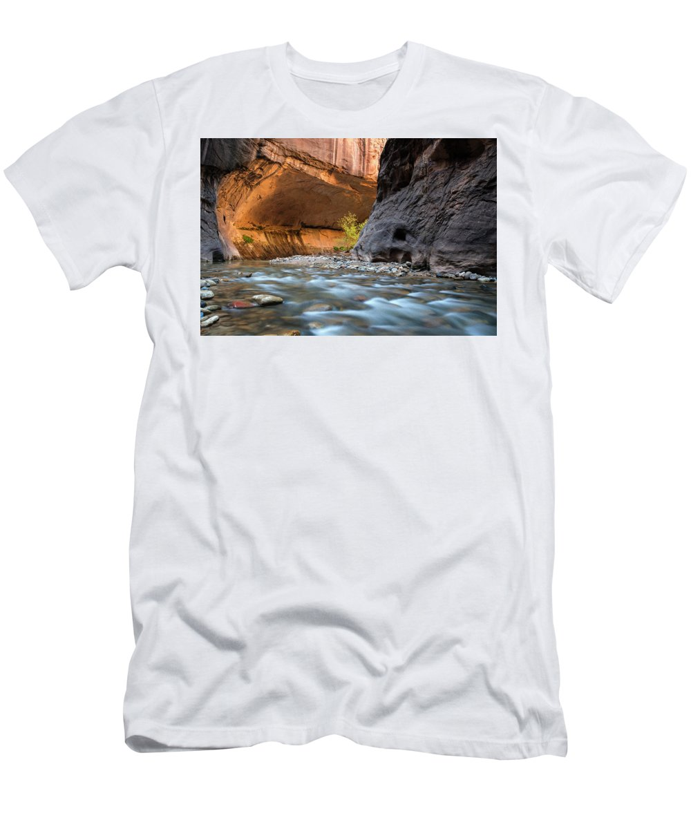 Zion National Park Men's T-Shirt (Athletic Fit) featuring the photograph Zion by Gabriel Jardim