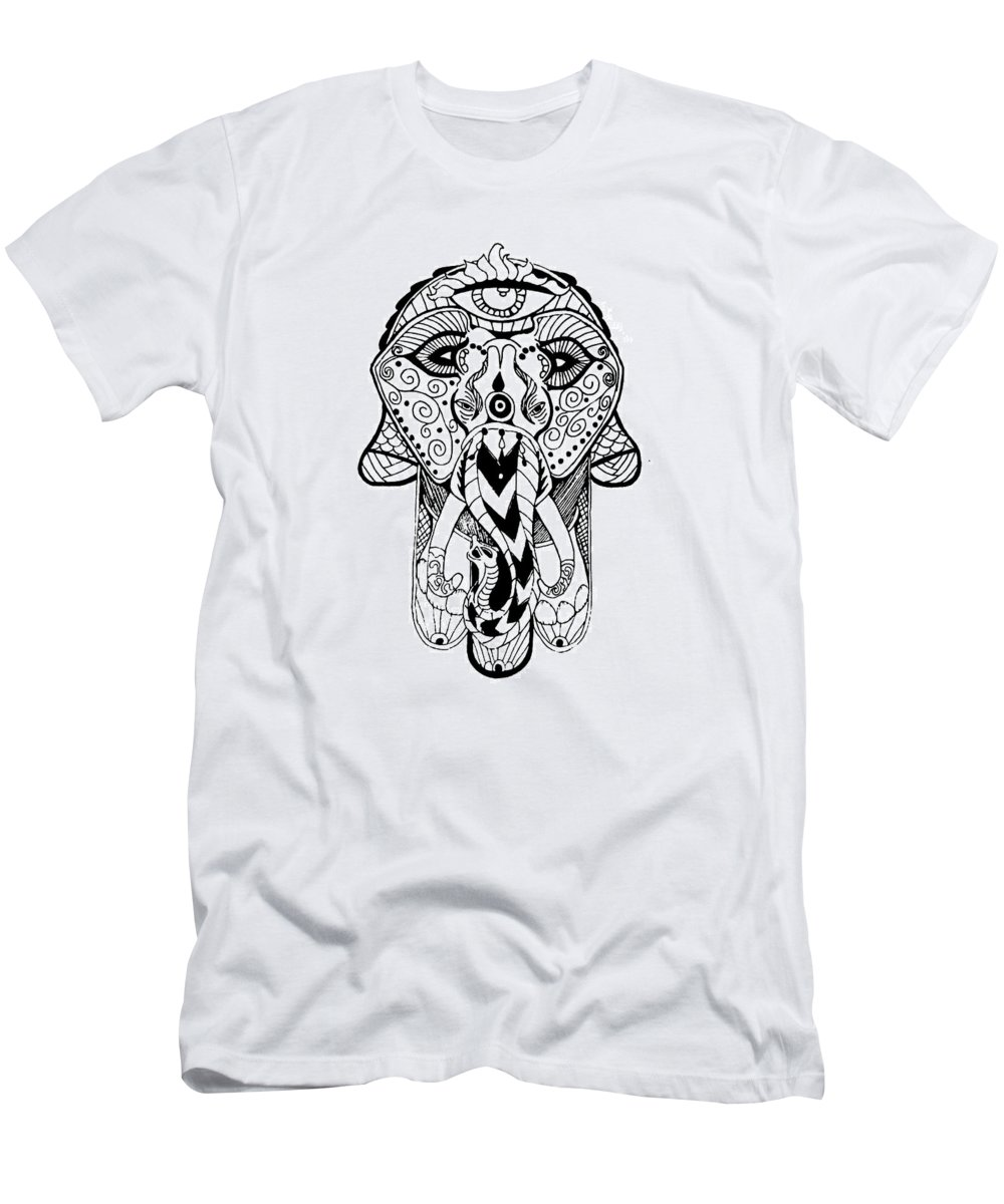 Men's T-Shirt (Athletic Fit) featuring the mixed media Artist by Nathen Warren