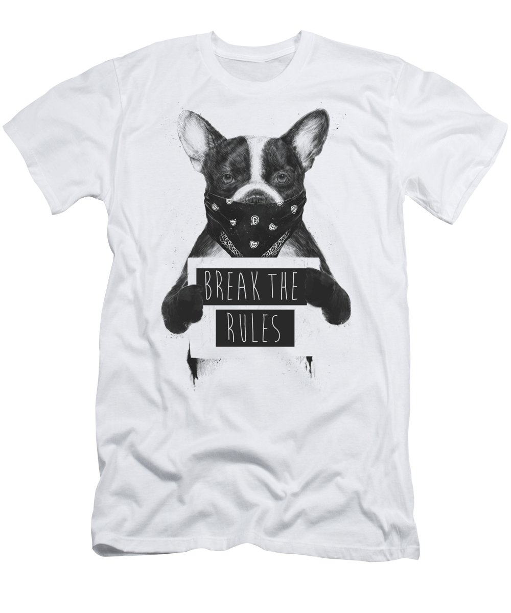 Dog T-Shirt featuring the mixed media Rebel dog II by Balazs Solti