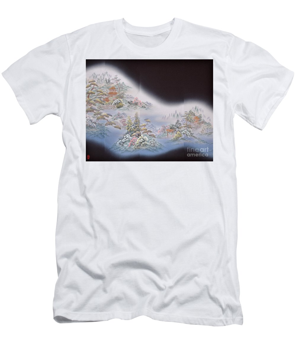 T-Shirt featuring the digital art Spirit of Japan T64 by Miho Kanamori