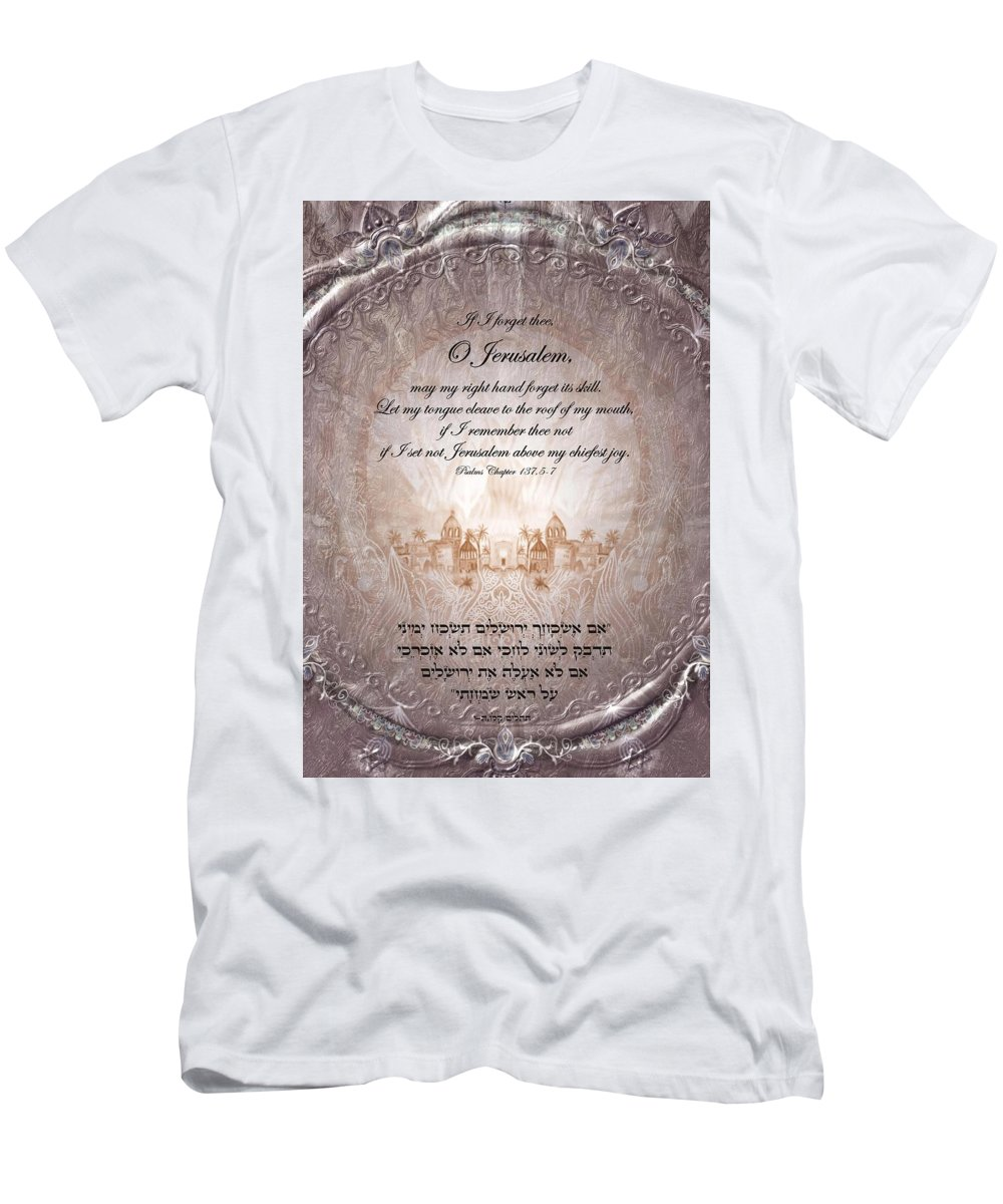 Psalm 137 Men's T-Shirt (Athletic Fit) featuring the digital art Psalm 137 by Sandrine Kespi