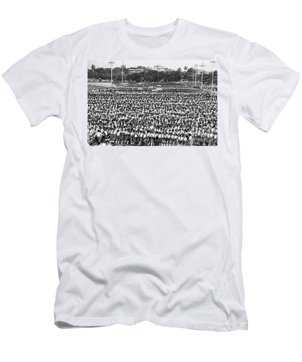 March Men's T-Shirt (Athletic Fit) featuring the photograph A Very Large Event by Venancio Diaz