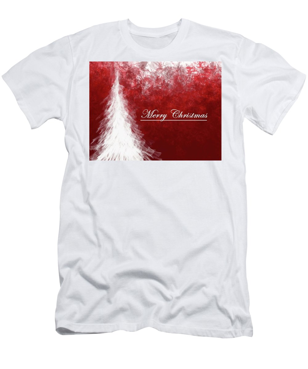 Christmas Card Design Men's T-Shirt (Athletic Fit) featuring the digital art Abstract Tree2 by Kris Haney Sirk Designs Ltd