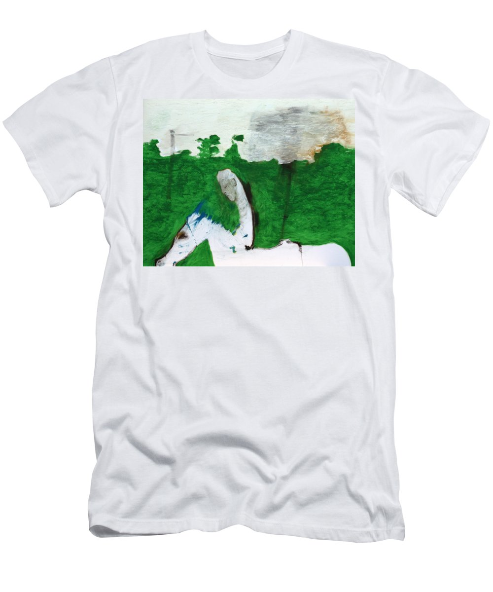 Soldier Men's T-Shirt (Athletic Fit) featuring the painting After Battle by Artist Dot