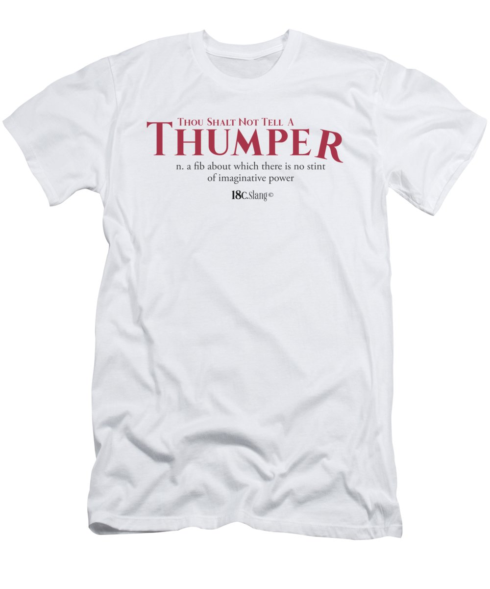America Men's T-Shirt (Athletic Fit) featuring the digital art Thou Shalt Not Tell A Thumper by 18th Century Slang